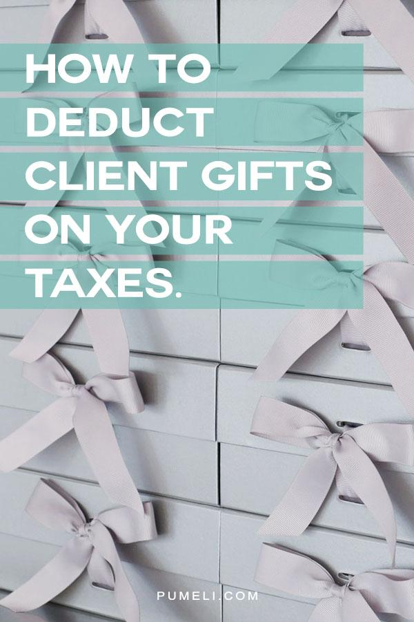 How to deduct client gifts from your taxes